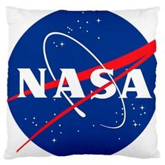 Nasa Logo Large Cushion Case (one Side)