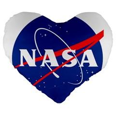 Nasa Logo Large 19  Premium Heart Shape Cushions