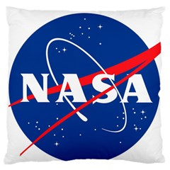 Nasa Logo Large Flano Cushion Case (two Sides)