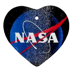 Nasa Logo Ornament (heart)