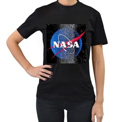 Nasa Logo Women s T Shirt (black) (two Sided)