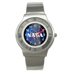 Nasa Logo Stainless Steel Watch