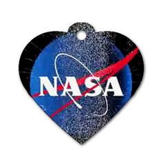 Nasa Logo Dog Tag Heart (one Side)