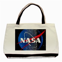 Nasa Logo Basic Tote Bag (two Sides)