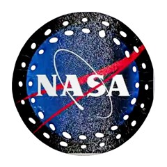 Nasa Logo Ornament (round Filigree)