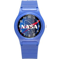 Nasa Logo Round Plastic Sport Watch (s)
