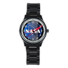 Nasa Logo Stainless Steel Round Watch