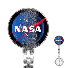 Nasa Logo Stainless Steel Nurses Watch