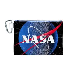 Nasa Logo Canvas Cosmetic Bag (m)