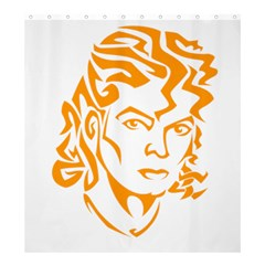 Michael Jackson Shower Curtain 66  X 72  (large)