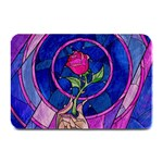 Enchanted Rose Stained Glass Plate Mats 18 x12 Plate Mat - 1