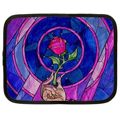Enchanted Rose Stained Glass Netbook Case (large)