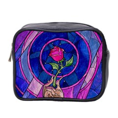 Enchanted Rose Stained Glass Mini Toiletries Bag 2 Side