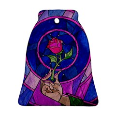 Enchanted Rose Stained Glass Bell Ornament (two Sides)