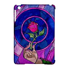 Enchanted Rose Stained Glass Apple Ipad Mini Hardshell Case (compatible With Smart Cover)