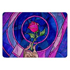 Enchanted Rose Stained Glass Samsung Galaxy Tab 8 9  P7300 Flip Case