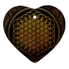 Bring Me The Horizon Cover Album Gold Heart Ornament (two Sides)