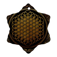 Bring Me The Horizon Cover Album Gold Snowflake Ornament (two Sides)