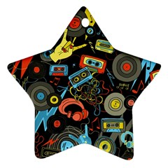 Music Pattern Ornament (star)