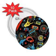 Music Pattern 2 25  Buttons (10 Pack)