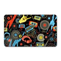 Music Pattern Magnet (rectangular)