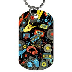 Music Pattern Dog Tag (one Side)