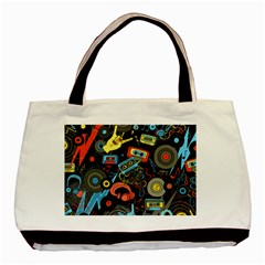 Music Pattern Basic Tote Bag