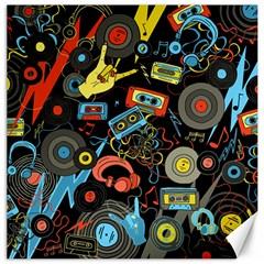Music Pattern Canvas 12  X 12