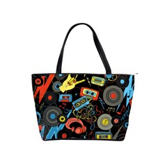 Music Pattern Shoulder Handbags