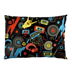 Music Pattern Pillow Case (two Sides)