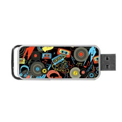 Music Pattern Portable Usb Flash (one Side)