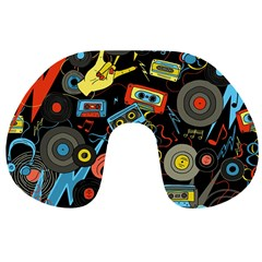 Music Pattern Travel Neck Pillows
