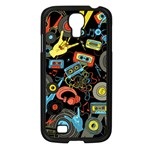 Music Pattern Samsung Galaxy S4 I9500/ I9505 Case (Black) Front