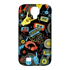 Music Pattern Samsung Galaxy S4 Classic Hardshell Case (pc+silicone)