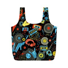 Music Pattern Full Print Recycle Bags (m)