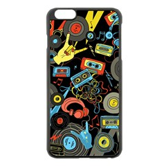 Music Pattern Apple Iphone 6 Plus/6s Plus Black Enamel Case
