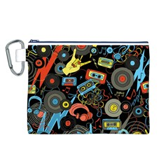 Music Pattern Canvas Cosmetic Bag (l)