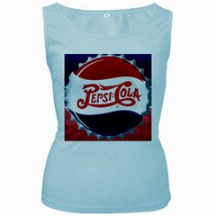 Pepsi Cola Women s Baby Blue Tank Top