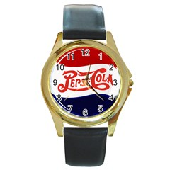 Pepsi Cola Round Gold Metal Watch