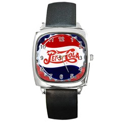 Pepsi Cola Square Metal Watch