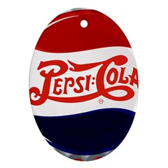 Pepsi Cola Oval Ornament (two Sides)
