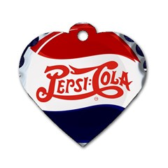 Pepsi Cola Dog Tag Heart (two Sides)