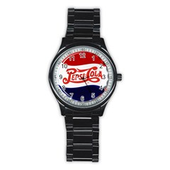 Pepsi Cola Stainless Steel Round Watch