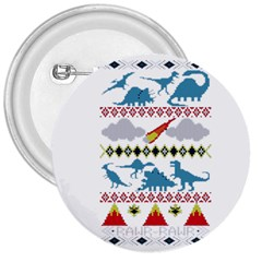 My Grandma Likes Dinosaurs Ugly Holiday Christmas 3  Buttons