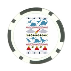 My Grandma Likes Dinosaurs Ugly Holiday Christmas Poker Chip Card Guard