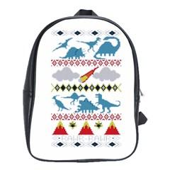 My Grandma Likes Dinosaurs Ugly Holiday Christmas School Bag (large)