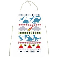 My Grandma Likes Dinosaurs Ugly Holiday Christmas Full Print Aprons