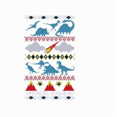 My Grandma Likes Dinosaurs Ugly Holiday Christmas Small Garden Flag (two Sides)