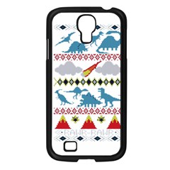 My Grandma Likes Dinosaurs Ugly Holiday Christmas Samsung Galaxy S4 I9500/ I9505 Case (black)