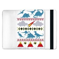 My Grandma Likes Dinosaurs Ugly Holiday Christmas Samsung Galaxy Tab Pro 12 2  Flip Case